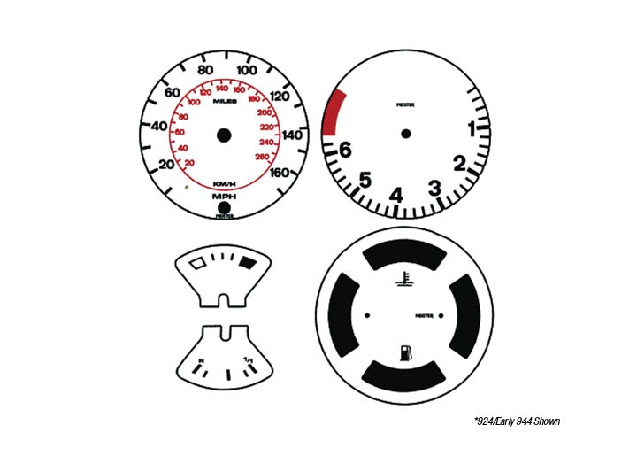 Porsche 944 1982 85 Factory And Replacement Gauges